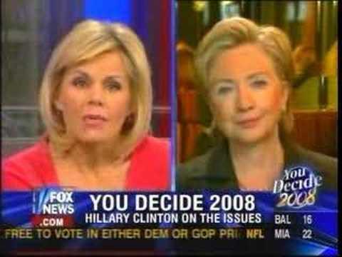 Fox & friends Doocy and Carlson interview Sen Clinton