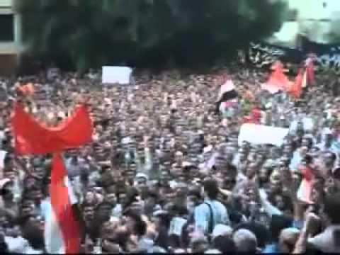 Egyptian Revolution Massive protests  VICTORY 2011!.flv