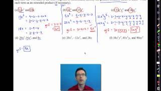Common Core Algebra I.Unit #7.Lesson #3.Factoring Polynomials