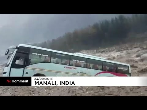 شاهد: الفيضانات تجرف حافلة في الهند وتضعها في مجرى نهر  - نشر قبل 3 ساعة