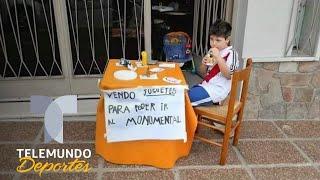 Niño vendía sus juguetes para ver a River Plate y se llevó una sorpresa | Telemundo Deportes