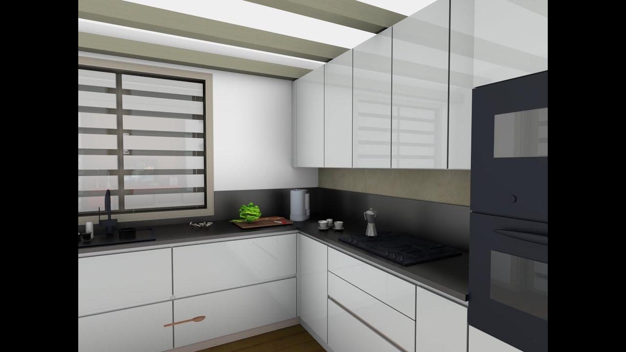 La cucina in bianco e nero youtube - Piano cucina in dekton ...