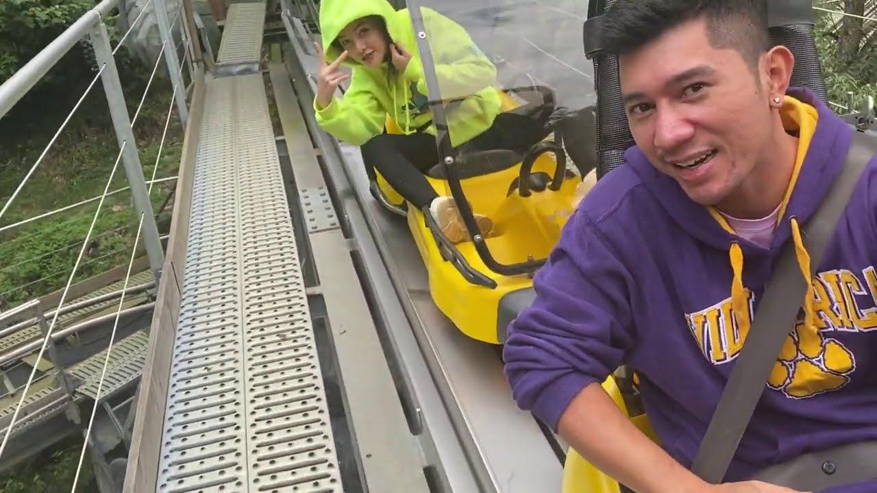 Chơi xe trượt siêu dài nguy hiểm, Lương Bằng Quang Ngân 98