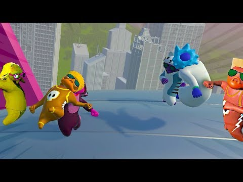 PAC E MIKE VS TODOS! LUTAS ÉPICAS! - Gang Beasts