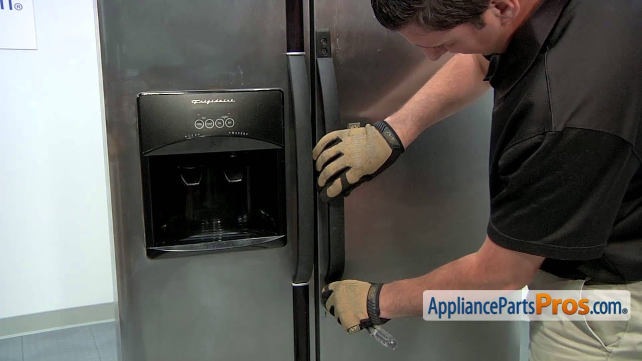Refrigerator Door Handle (part #218762703) - How To Replace - YouTube