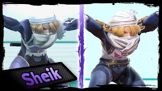 Moveset Animation Comparison | SHEIK