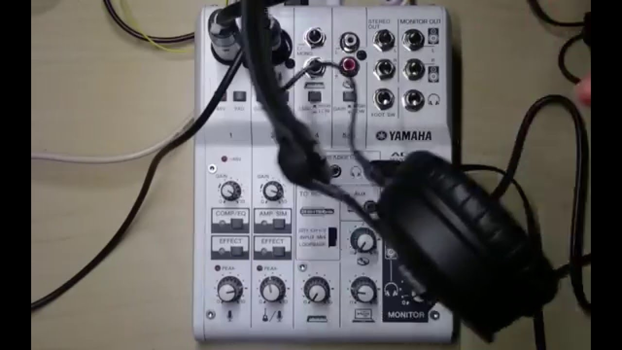 Record seperate layers with Yamaha AG06