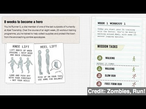 Running From Zombies: Smartphone Apps Make Exercise Fun