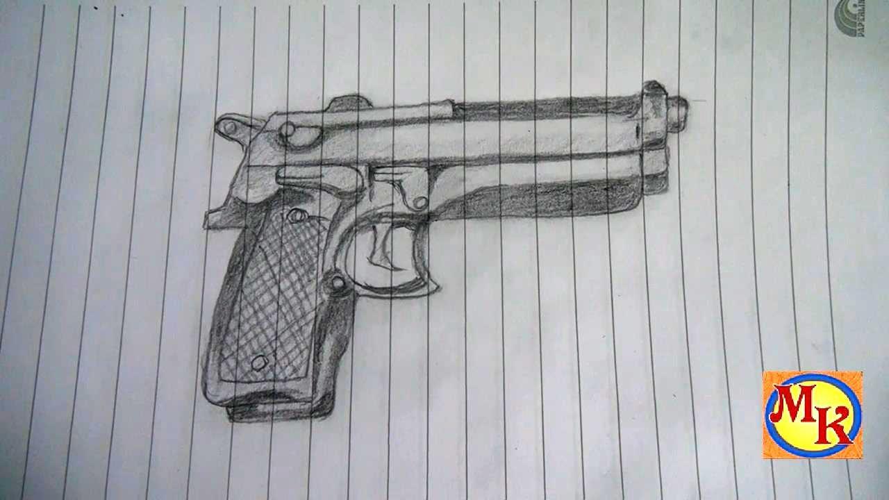 Cara Menggambar Pistol Speed Drawing Youtube