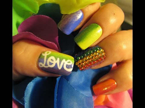 Pray for Orlando/Gay Pride nail art tutorial