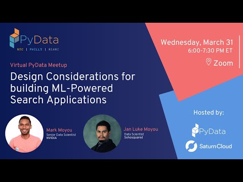 Design Considerations for Building ML- Powered Search Applications - Mark Moyou