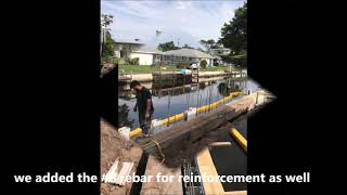 Florida Seawall Repair llc  - Truline Seawall installation