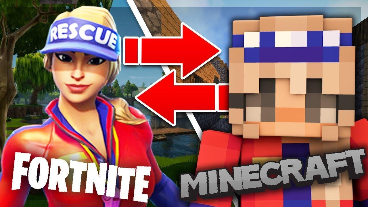 10 Fortnite Skins in Minecraft! (Top Minecraft Skins)