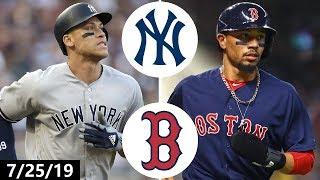 New York Yankees vs Boston Red Sox Highlights | July 25, 2019 (2019 MLB Season)