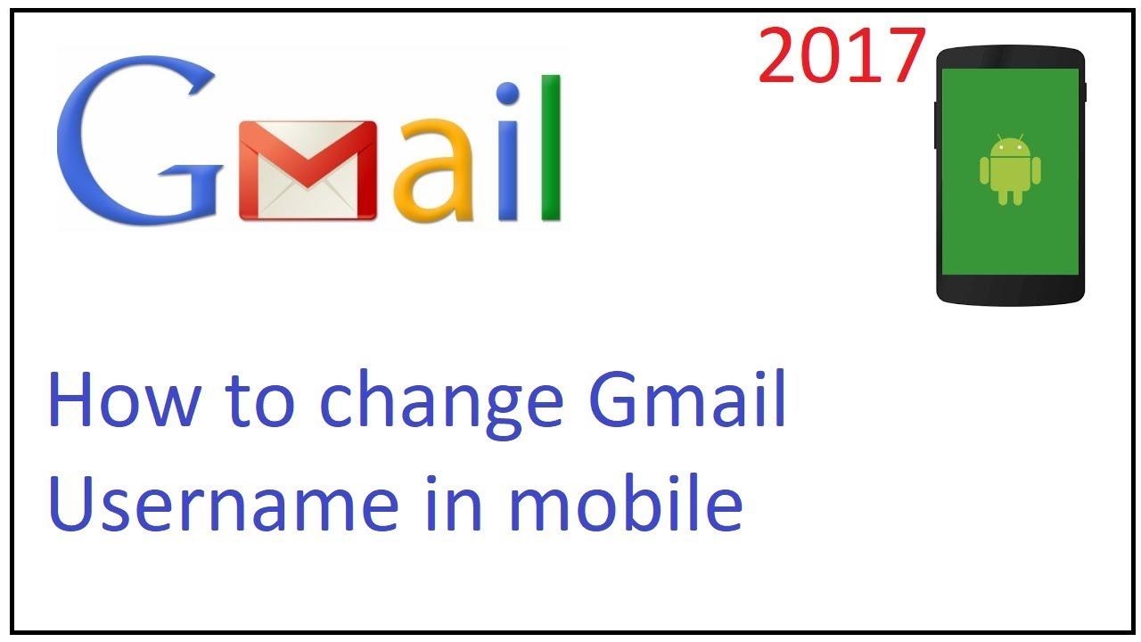How to change gmail username