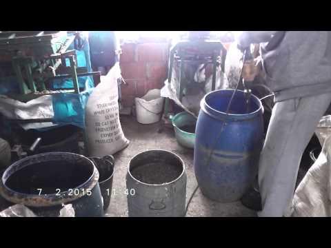 Diy prepare mixture (slurry) for briquettes