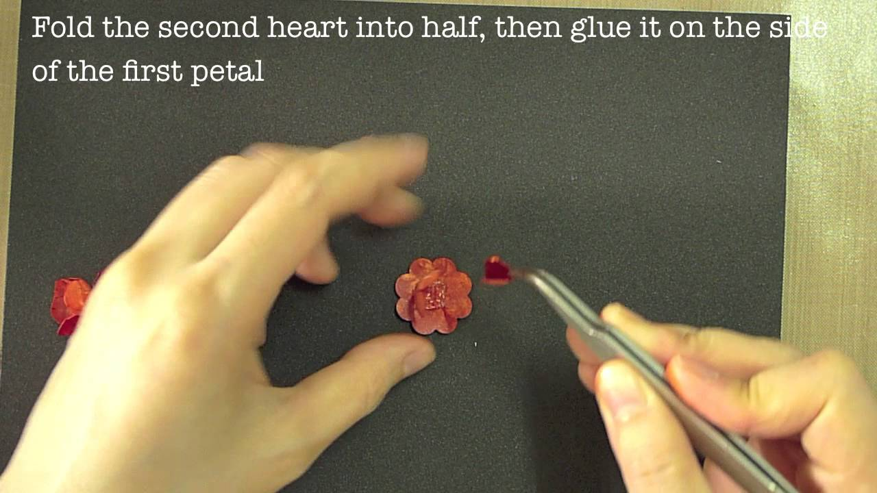 How to make paper flowers with heart punch youtube how to make paper flowers with heart punch mightylinksfo