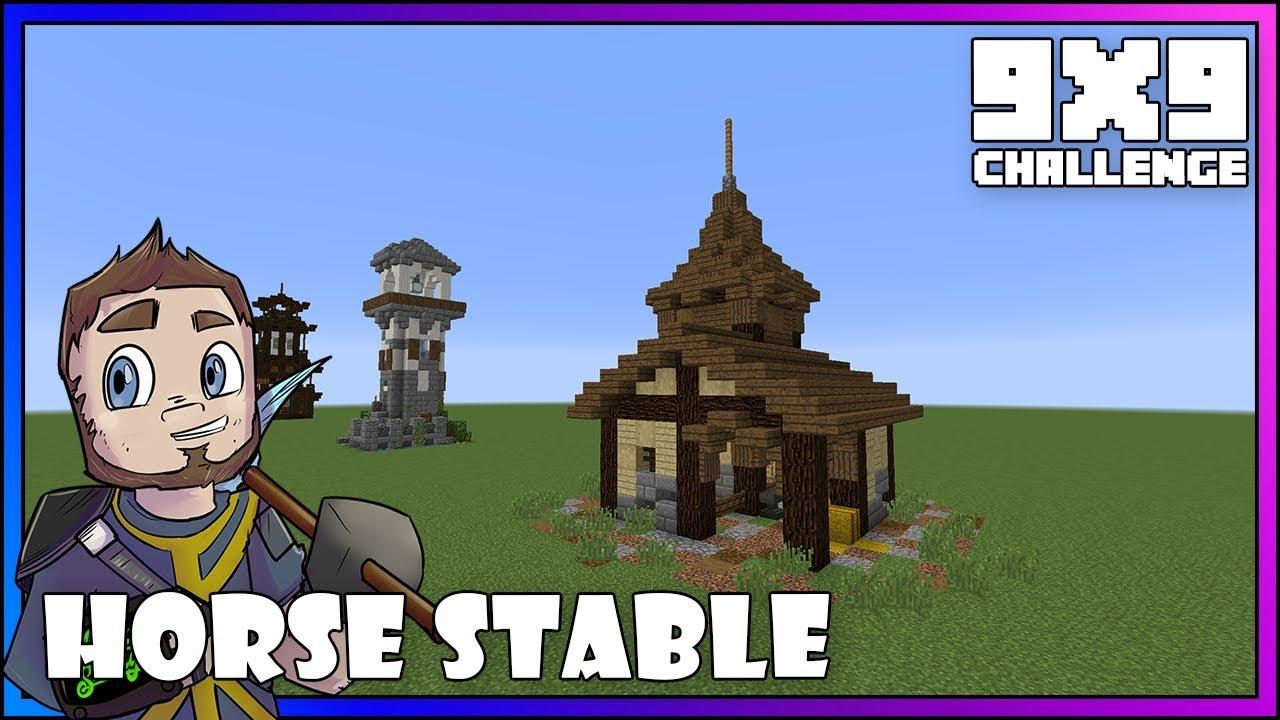 Minecraft 9x9 Challenge Horse Stable Minecraft