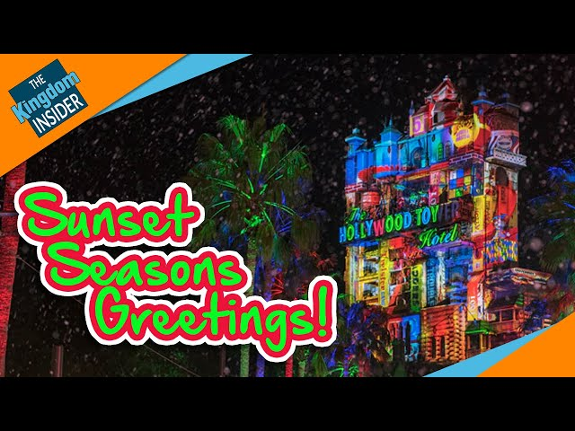 SUNSET SEASONS GREETINGS Projection Show in Disney's Hollywood Studios (2018)