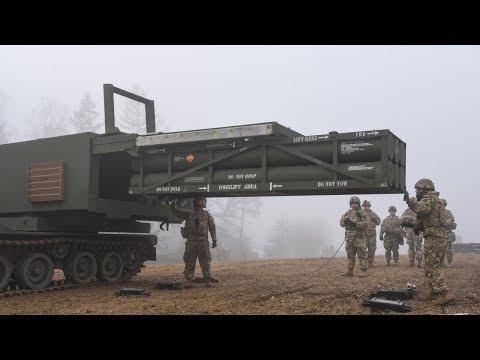 전장을 초토화시키는 강철비, 미 육군 MLRS 다연장 로켓 시스템