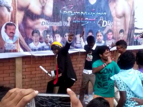 Dhanush fans celebrating D25 #VIP in bangalore