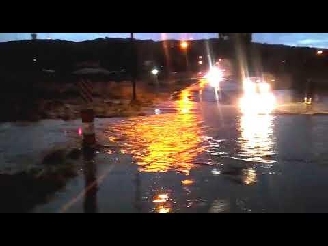 Heavy rain in Windhoek this afternoon.
