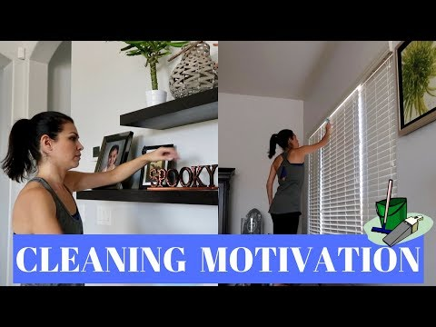 CLEAN WITH ME || SAHM || POWER HOUR CLEANING ROUTINE