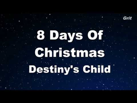 8 Days Of Christmas  Destinys Child Karaoke 【No Guide Melody】 Instrumental