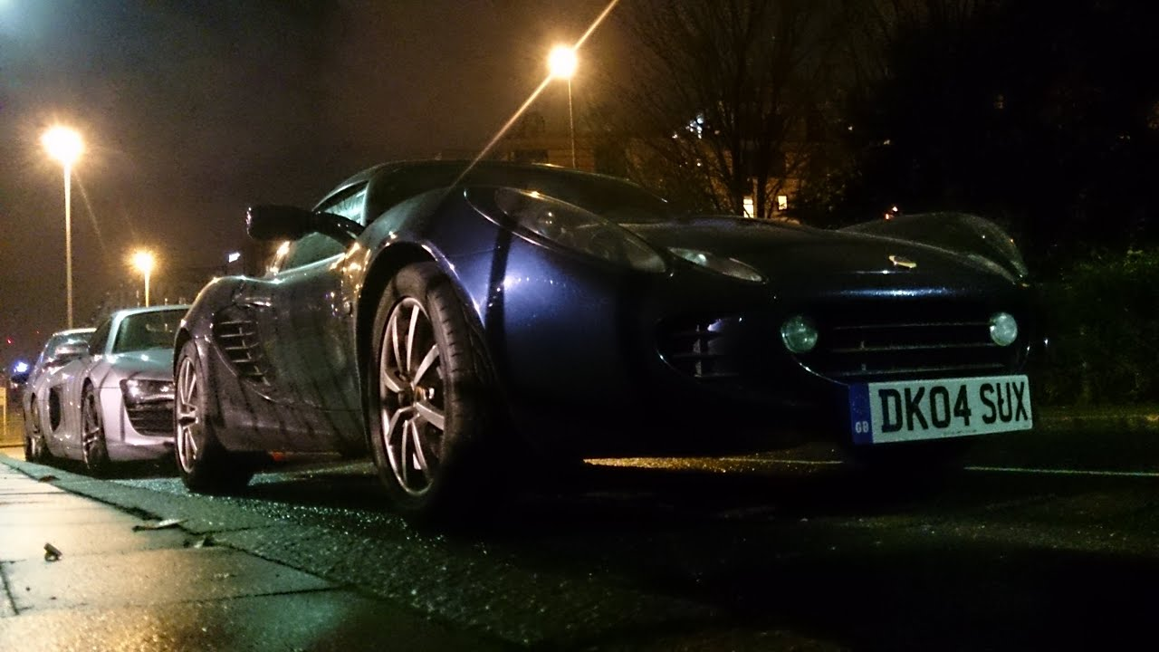 Sports Cars At Night Audi R8 Spyder And Lotus Elise 111s Combo