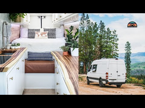 Couple Works From Their Stealth DIY Sprinter Van & Lives A Simple, Adventure Filled Life
