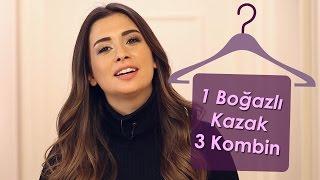 Boğazlı Kazak 3 Kombin   Buse Terim