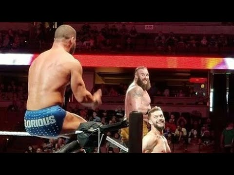 Braun strowman, Finn balor, Bobby roode VS Kevin owens, Elias, Corbin Tag team match | WWE Anaheim