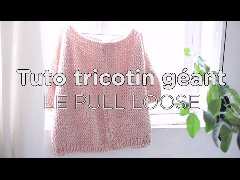 tuto tricotin le pull loose partie 1 loom knit an oversized sweater part 1 youtube. Black Bedroom Furniture Sets. Home Design Ideas