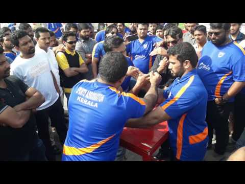 Qatar arm wrestling betting match 2 ..RANJITH vs SABIR ALI