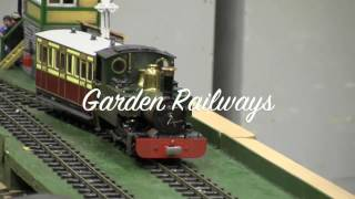 Model Trains: Roundhouse live steam Model /  Railways from Hobby fair i Norway, 2017