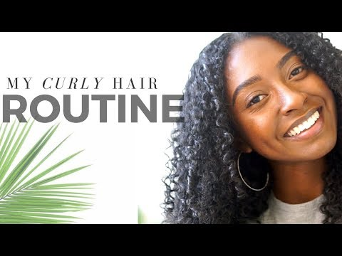 My Curly Hair Routine ! |How I Elongate My Curls With No Water or Heat!|