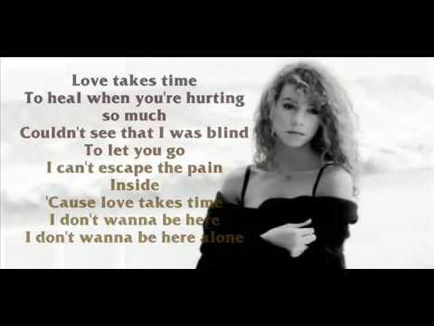 Credit by Mari Angels - Karaoke for male - Love Takes Time - Mariah Carey
