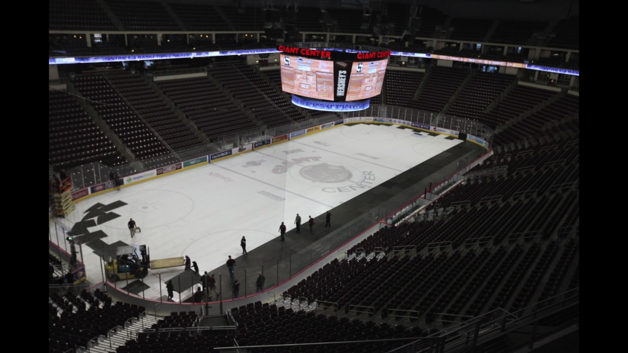 Watch From Basketball To Hockey The Giant Center Transforms Youtube