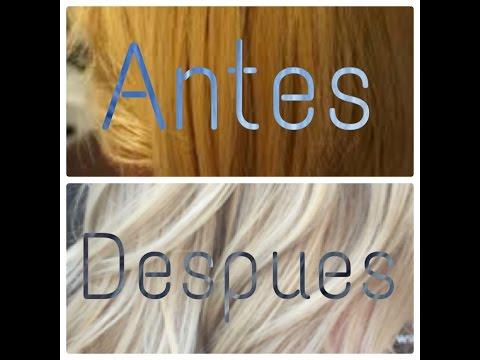 Diy quitar los tonos naranjas y amarillos del cabello d doovi - Como matizar el pelo rubio en casa ...
