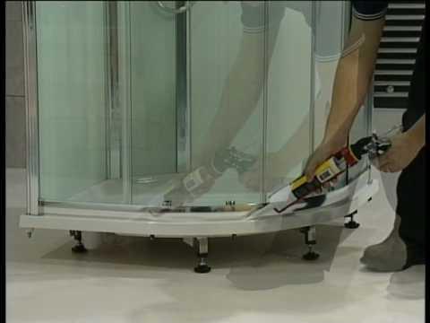 Aqualux Slot & Lock Quadrant Shower Enclosure Installation Video ...