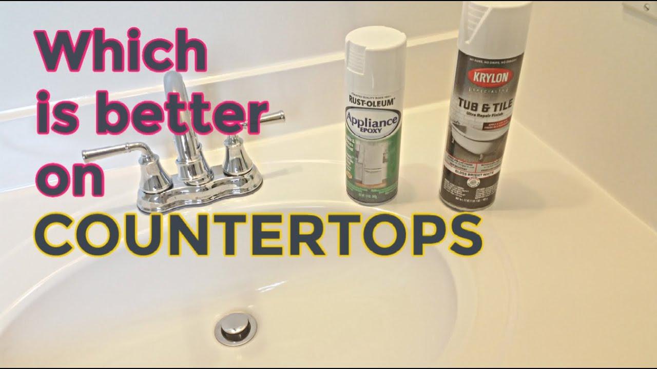 spray paint bathroom vanity countertops rustoleum krylon update your countertops