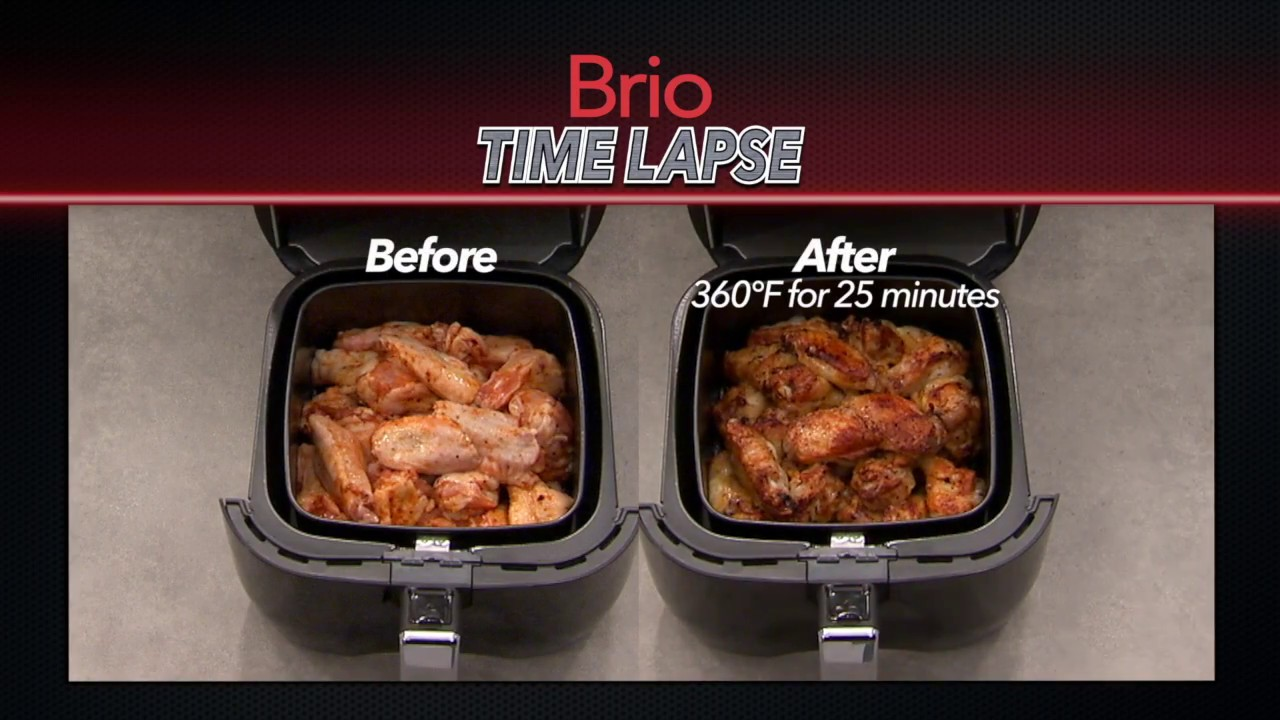 Chicken Wings Nuwave Brio Time Lapse Youtube