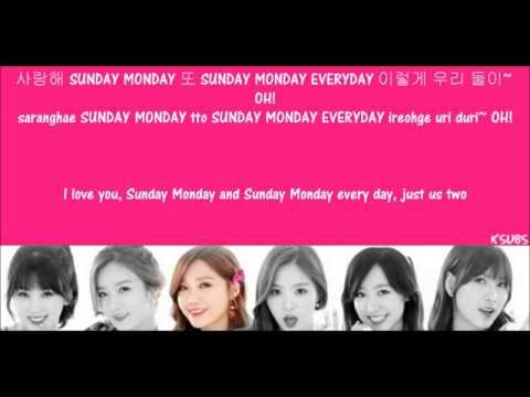 Apink ; Sunday Monday [Hangul + Romanization + Translations] Picture Coded