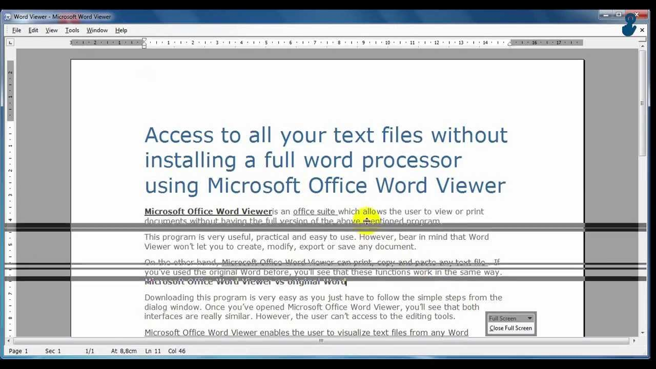 microsoft office word viewer quick video tutorial microsoft office word viewer quick video tutorial