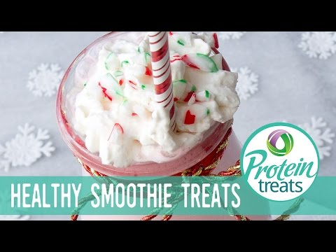 Candy Cane Protein Smoothie Protein Treats by Nutracelle