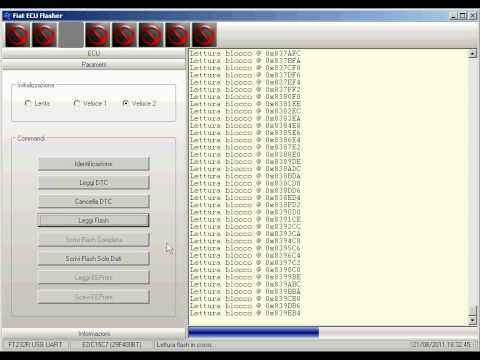 MTX Electronics Fiat ECU Flasher - Lettura mappatura via OBD