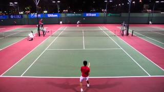 14 yr old vs open level tennis player - CRC OPEN 2013