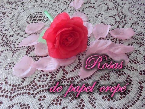 Dia De Las Madres Rosas De Papel Crepe Youtube