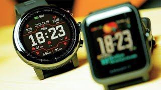 Amazfit Bip или Stratos?? Какие смарт часы от Xiaomi лучше!? Опыт использования.
