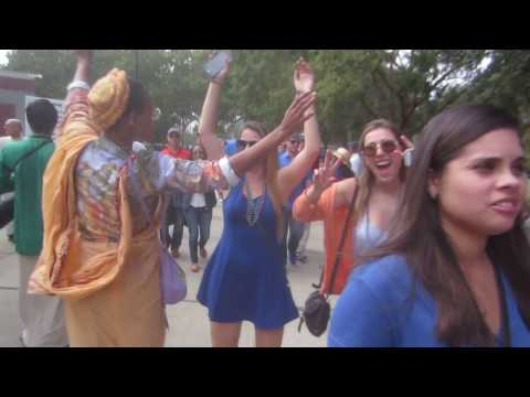 Alachua County Hare Krishnas Chant Before Gators Game
